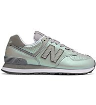 New Balance W574 Synthetic Metallic - Sneaker - Damen, Grey