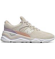 New Balance W90 Knit Suede - Sneaker - Damen, Beige/Pink