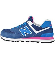 New Balance WL574 Suede Mesh - sneakers - donna, Blue/Pink