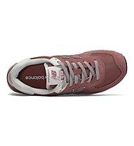New Balance WL574 Suede Mesh Seasonal - Sneaker - Damen, Rose