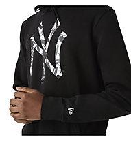 New Era MLB Camo Infill NY - felpa con cappuccio - uomo, Black/White