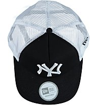 New Era MLB Clean Trucker Schirmmütze, Black/Optic White