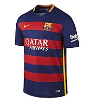 Nike 2015/16 FC Barcelona Stadium Home - T-shirt da calcio, L. Blue/S. Res/U. Gold