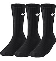 Nike 3PPK Value Cotton Crew (3 pairs) - calzini sportivi 3 paia - uomo, Black/White