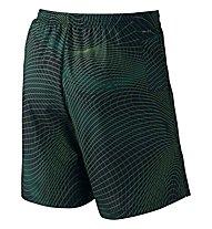 "Nike 7"" Distance Printed Short pantaloncini running, Dark Green"