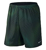 "Nike 7"" Distance Printed Short - kurze Laufhose, Dark Green"