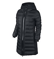 Nike Aeroloft Tech Fleece Parka donna, Black/Black/Black