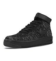 Nike Air Force 1 Flyknit W - Sneaker - Damen, Black