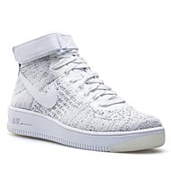 Nike AF1 Flyknit W - sneakers - donna, White