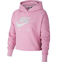 Nike Air Cropped - felpa con cappuccio - ragazza, Pink