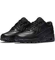 Nike Air Max 90 Leather (GS) - sneakers - bambino, Black