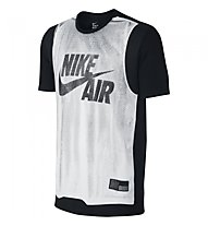 Nike Jersey T-Shirt Basketball Männer, White/Black