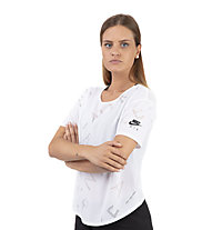 Nike Air Short-Sleeve Running Top - T-shirt running - donna, White