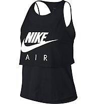 Nike Air Gx - top running - donna, Black
