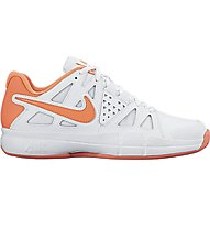 Nike Air Vapor Advantage Clay Tennisschuh Damen, White/Bright Orange