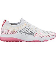 Nike Air Zoom Fearless Flyknit Turnschuh Damen, White/Grey/Pink