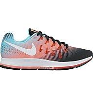 Nike Air Zoom Pegasus 33 Neutral-Laufschuh Damen, Light Blue/Orange