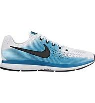 Nike Air Zoom Pegasus 34 - Neutral-Laufschuh - Herren, White/Light Blue