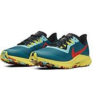 Nike Air Zoom Pegasus 36 Trail - Laufschuhe Trailrunning - Damen, Light Blue