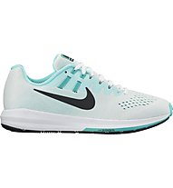 Nike Air Zoom Structure 20 W - Neutral-Laufschuhe - Damen, White/Turquoise
