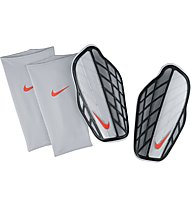 Nike Attack Premium - parastinchi calcio, Silver/Black/Hyper Orange