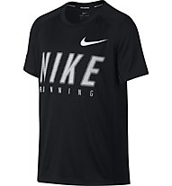 Nike Dry Top Miler GFX - T Shirt - Kinder, Black