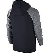 Nike Boys Sportswear Hoodie Felpa con cappuccio fitness Bambino, Black/Grey