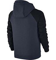 Nike Boys Sportswear Hoodie Felpa con cappuccio fitness Bambino, Blue/Black