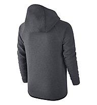 Nike Boys' Nike Sportswear Tech Fleece Windrunner Hoodie - giacca sportiva ragazzo, Carbon