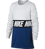 Nike Sportswear Advance 15 Training - Langarmshirt - Kinder, White/Blue