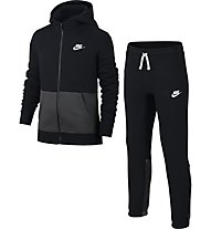 Nike Boys' Sportswear Track Suit Trainingsanzug Jungen, Black/Anthracite/White