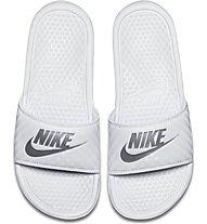 Nike Benassi - Sandale - Damen, White/Silver
