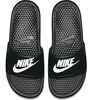 Nike Benassi - Sandalen - Herren, Black/White