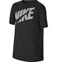 Nike Big Kids' (Boys') Short-Sleeve - T-shirt fitness - ragazzo, Black