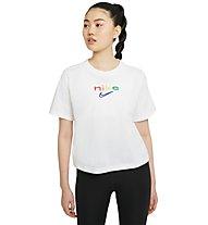 Nike Boxy Rainbow Training - Trainingsshirt - Damen, White