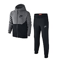 Nike Boys' Sportswear Warm-Up Track Suit - Trainingsanzug Jungen, Black