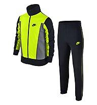 Nike Boys Sportswear Warm-Up Track Suit Tuta da ginnastica ragazzo, Black/Yellow