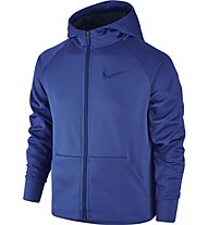 Nike Boys Therma Training Hoodie Giacca con cappuccio fitness Bambino, Blue