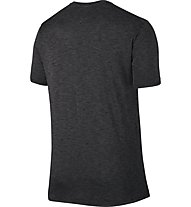 Nike Breathe Swoosh - T Shirt - Herren, Anthracite/Black