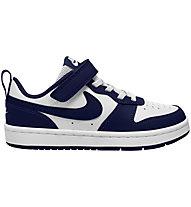 Nike Court Borough Low 2 - Sneaker - Kinder, White/Blue