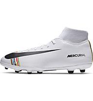 Nike CR7 Superfly 6 Club MG - Fußballschuh für gemischtes Gelände, White/Black/Platinum