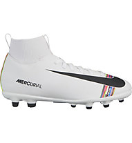 Nike CR7 Superfly 6 Club MG Junior - Multi-Ground Fußballschuh, White/Black/Platinum