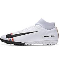 Nike CR7 SuperflyX 6 Academy TF - Fußballschuh Hartplatz, White/Black/Platinum