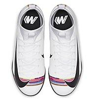 Nike CR7 SuperflyX 6 Academy TF Junior - scarpe da calcio per terreni duri- ragazzo, White/Black/Platinum