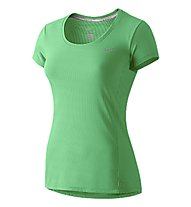 Nike Dri-FIT Contour T-shirt running donna, Spring Leaf
