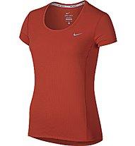 Nike Dri-FIT Contour T-shirt running donna, Crimson