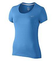 Nike Dri-FIT Contour T-shirt running donna, Blue