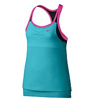 Nike Dri-FIT Cool 2-in-1 Shirt Mädchen, Omega Blue/Black/Pink