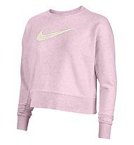 Nike Dri-FIT Get Fit W's Swoosh Training Crew - Sweatshirt - Damen, Pink