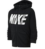 Nike Dri-FIT Graphic Training - Kapuzenpullover - Kinder, Black/White